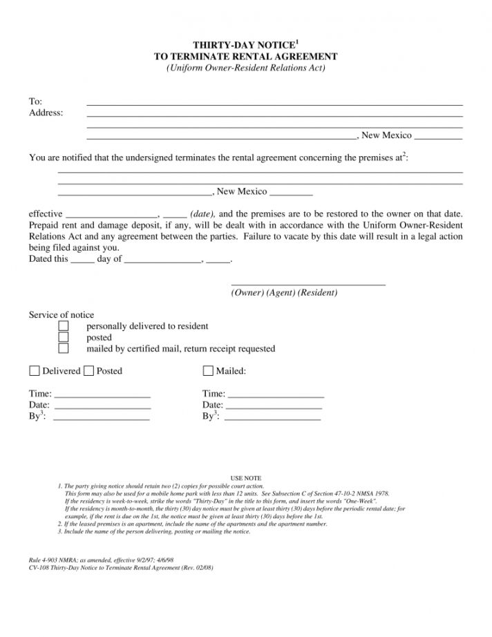 Browse Our Example Of Florida 30 Day Notice To Vacate Template Templates Being A Landlord Day