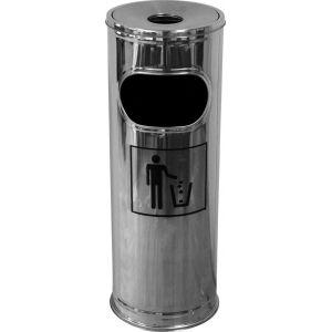Урна-пепельница уличная напольная d=20 см. h=56 см. нерж (RGS-2075D) /6/