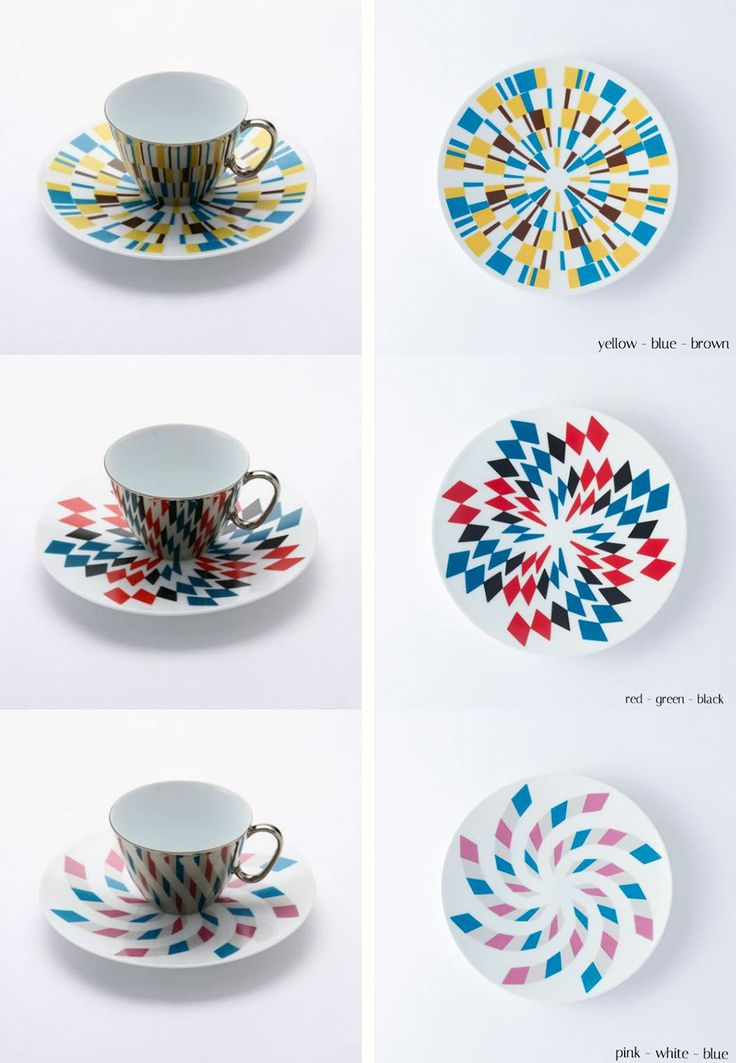 Mirror Coffee Cups by 'D-Bros' Reflect Saucer Patterns