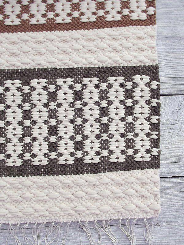 White grey brown cotton rug soft and thick reversible por leedas