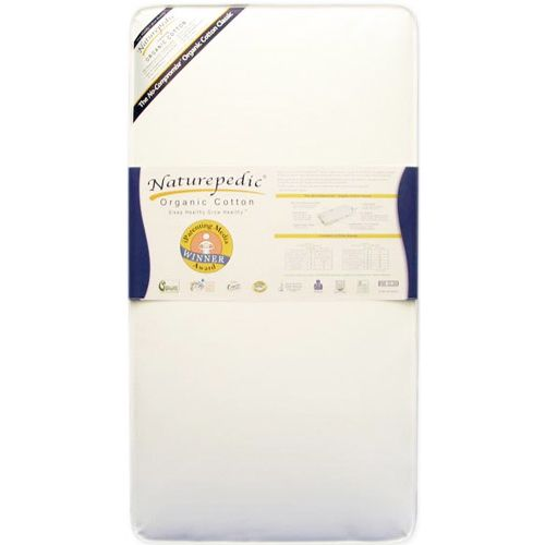 No-Compromise Organic Classic 150 Traditional Crib Mattress by Naturepedic Mattress at BabyEarth.com, $259.00