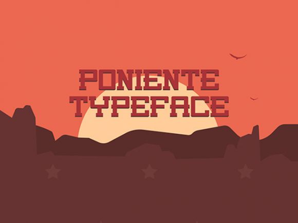 This is the FREE Poniente Font which is a true wild west font. Perfect for any kind of imagery that needs to imitate the days of the wild west or any other theme that needs to incorporate that kind of vision.
