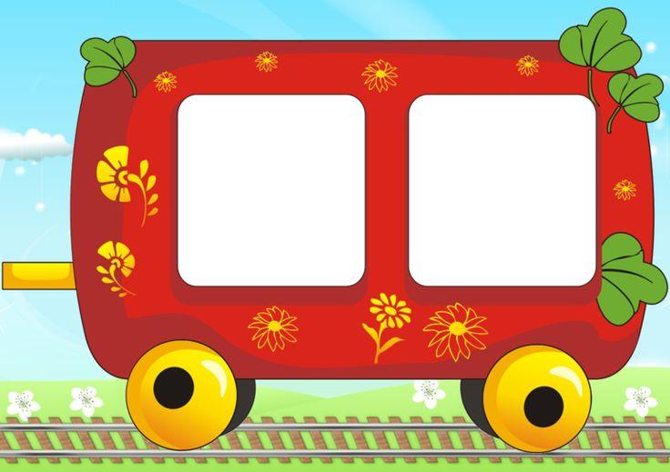 Поезд и вагончики картинки для детей печать