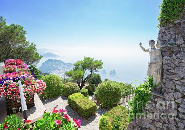 View from mount Solaro of Capri island, Italy by AnastasyYarmolovichPhotography