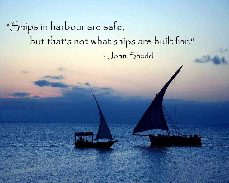 Ships in harbor are safe, but that's not what ships are built for. http://www.acalia.org/services/#Services #riskmanagement #entrepreneurship #supplychainmanagement