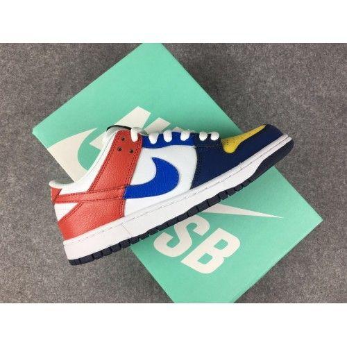 the latest c8414 00ac6 2018 NIKE DUNK SB LOW CO JP Womens Mens Sneakers Orange Black White Yellow  Cheap