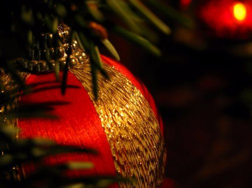 hidden christmas ball or bauble decoration