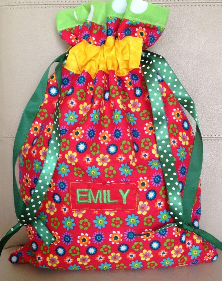 ETSY: Personalised girls school PE bag.