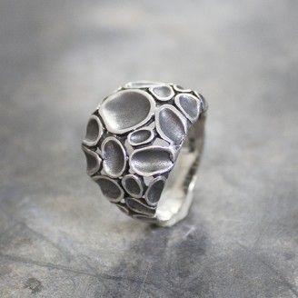 19034 – Ring zilver met geoxideerd zilver