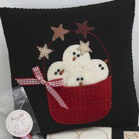 snow happy pillow kit / Bunny Hill Designs