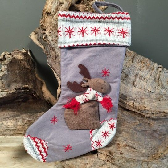 Χριστουγεννιάτικη Κάλτσα Με Ταρανδάκι