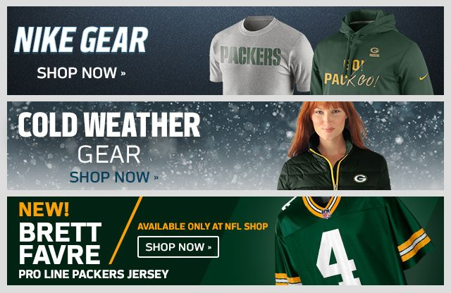 Green Bay Packers Gear - Buy Packers Nike Jerseys, Hats, Apparel & Merchandise at NFLShop.com