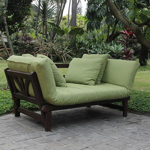 Delahey Studio Converting Outdoor Sofa Brown With Green