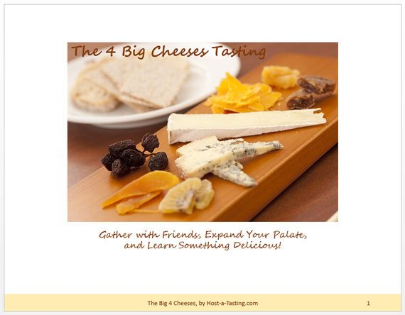 Cheese 101  All-Inclusive Tasting Party Package by HostATasting