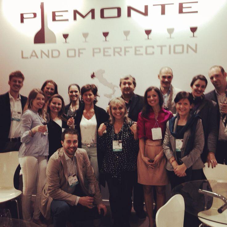 I produttori della collettiva Piemonte Land ad Expovinis 2014-Sao Paulo do Brasil