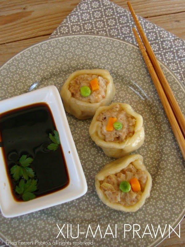 Ricetta dei ravioli cinesi di gambero al vapore - Chinese dumplings steamed with shrimp