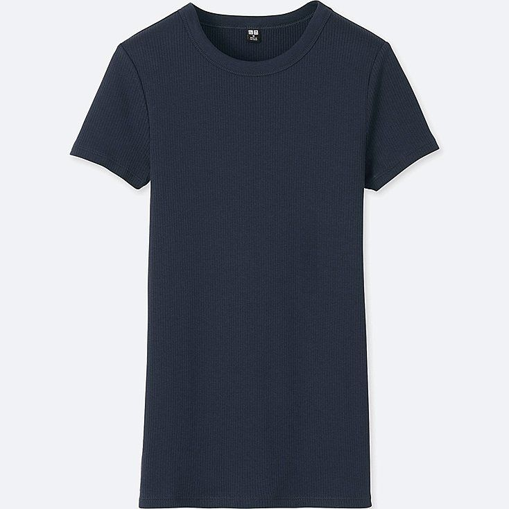 7409c390 Women supima cotton ribbed crew neck t-shirt | English Casual ...