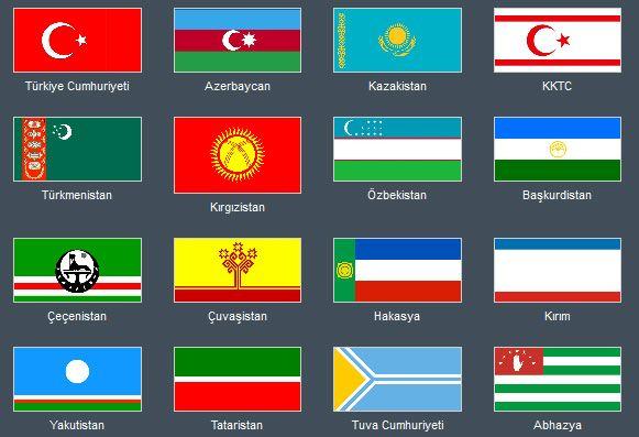 Bu sayfada sizlere Türk Bayrakları'nı tanıtıyoruz. Şuan hala devam eden Türk Devletleri'nin ve Muhtar Cumhuriyetleri'nin bayraklarına yer vereceğiz. Türk B, Türk Bayrakları indir, Ülkeler