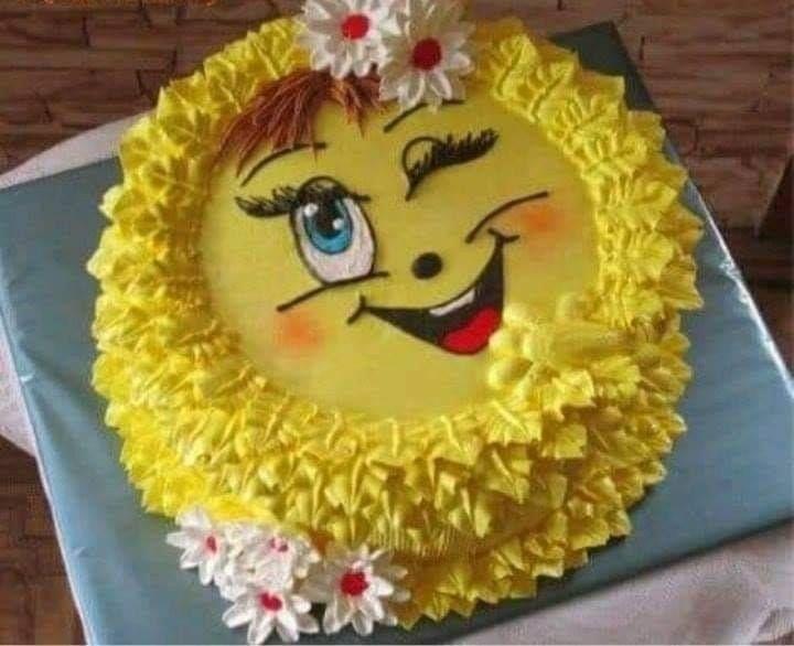 крупная торт солнышко фото из крема роднина