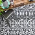 Devonstone Black Feature 33.1cm x 33.1cm Floor Tile