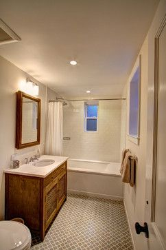 Kohler Tea For Two Design, Pictures, Remodel, Decor and Ideas.  Bath/ Shower curtain combo with subway for girls' bath.  Like floor tile.