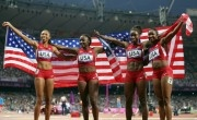 US Women's Track Relay Team Shatters Olympic Record! Win Gold!