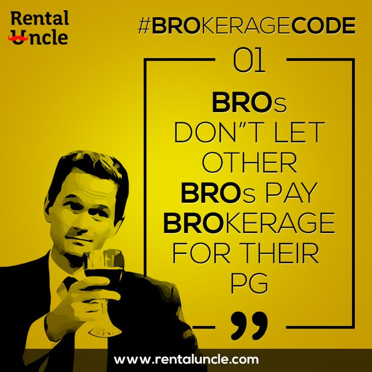 Bros don't let other bros pay brokerage for their PG. Don't let your friends pay any brokerage. www.rentaluncle.com ‪