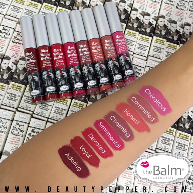 Meet Matte Hughes liquid lipstick-pretty shades that really last by the Balm Cosmetics.