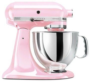 KitchenAid KSM150PSPK Komen Foundation Artisan Series 5-Quart Mixer, Pink contemporary mixers