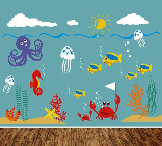 Kids Wall Decal Playroom Nursery Wall Sticker by PurpleWall, $139.00