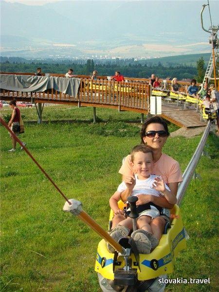Predajná. Mountain Summer Bobsled Track - Slovakia.travel
