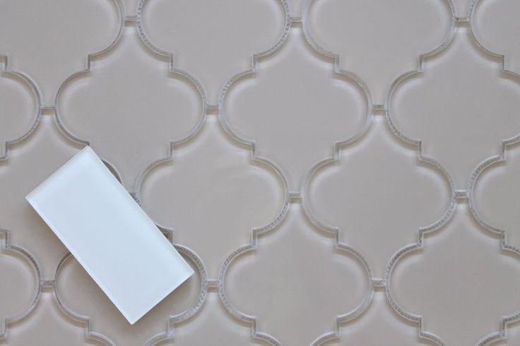 Antique Light Taupe Arabesque Glass Mosaic Tiles - Kitchen Backsplash/Bathroom  | eBay