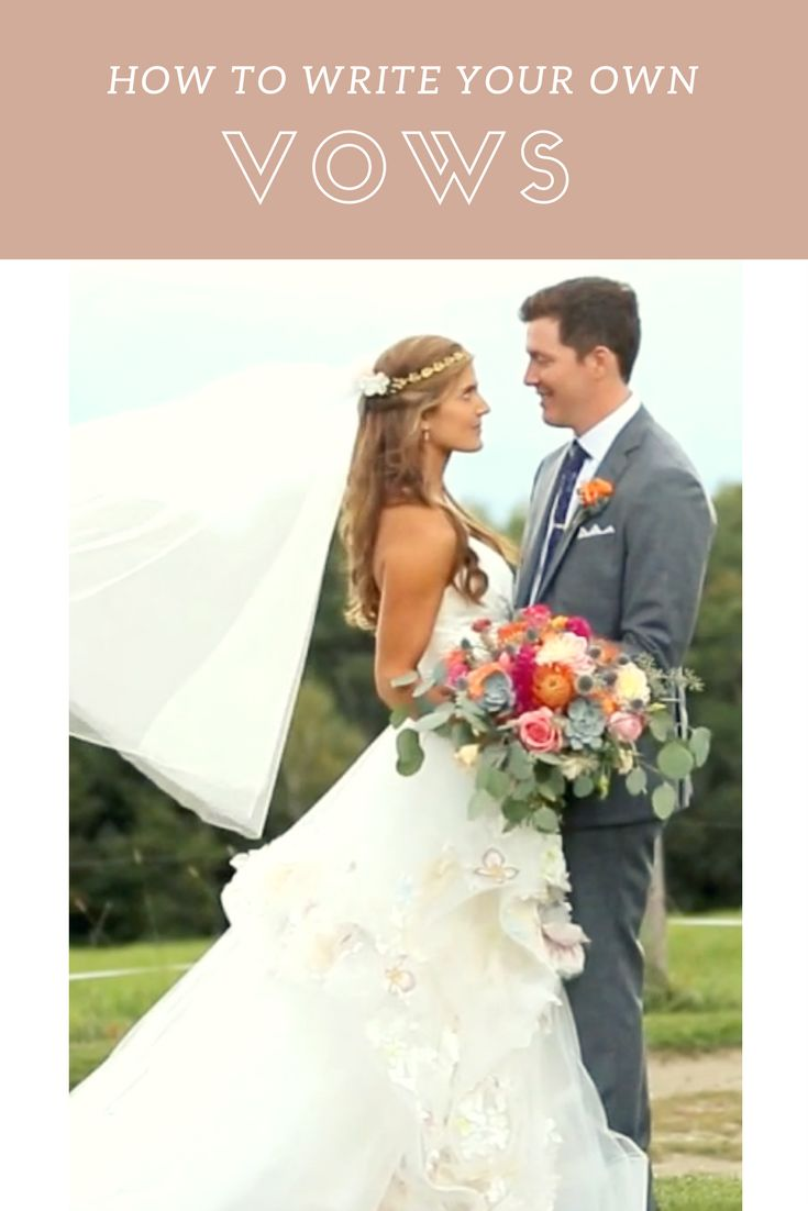 Get inspired to write your own wedding vows by watching real wedding videos on lovestoriestv.com!