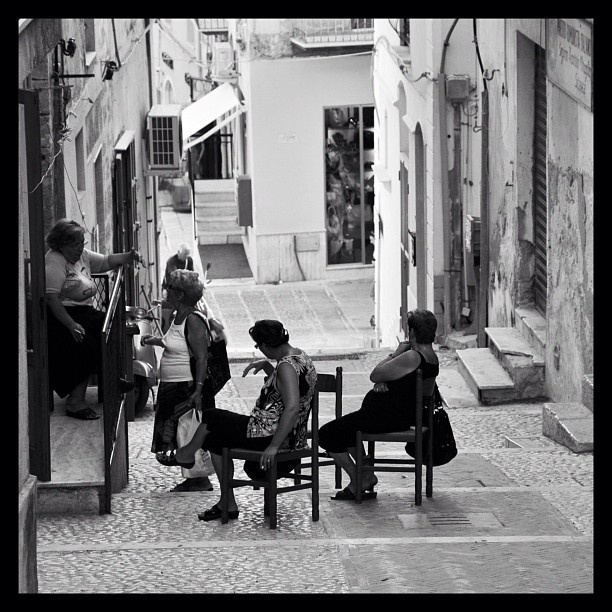 Sicilian women all a chatter