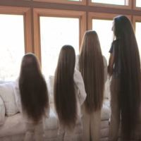 Mom and Her Daughters' Show Off Their Hair. Mine is as long as the 3rd from the left
