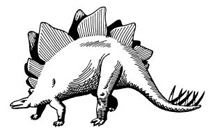 stegosaurus by @papapishu, This image was donated by Pearson Scott Foresman, an educational publisher, to Wikimedia Commons, and is thereby in the Public Domain. --- See http://commons.wikimedia.org/wiki/Category:Pearson_Scott_Foresman_publisher  #dinosaur #stegosaurus