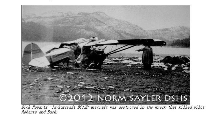 Dick Buek's Airplane destroyed, both he and the pilot died ...