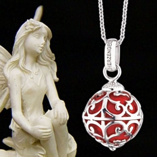 Angel Caller Red Necklace by Aistikas Spiritual Children Jewelry