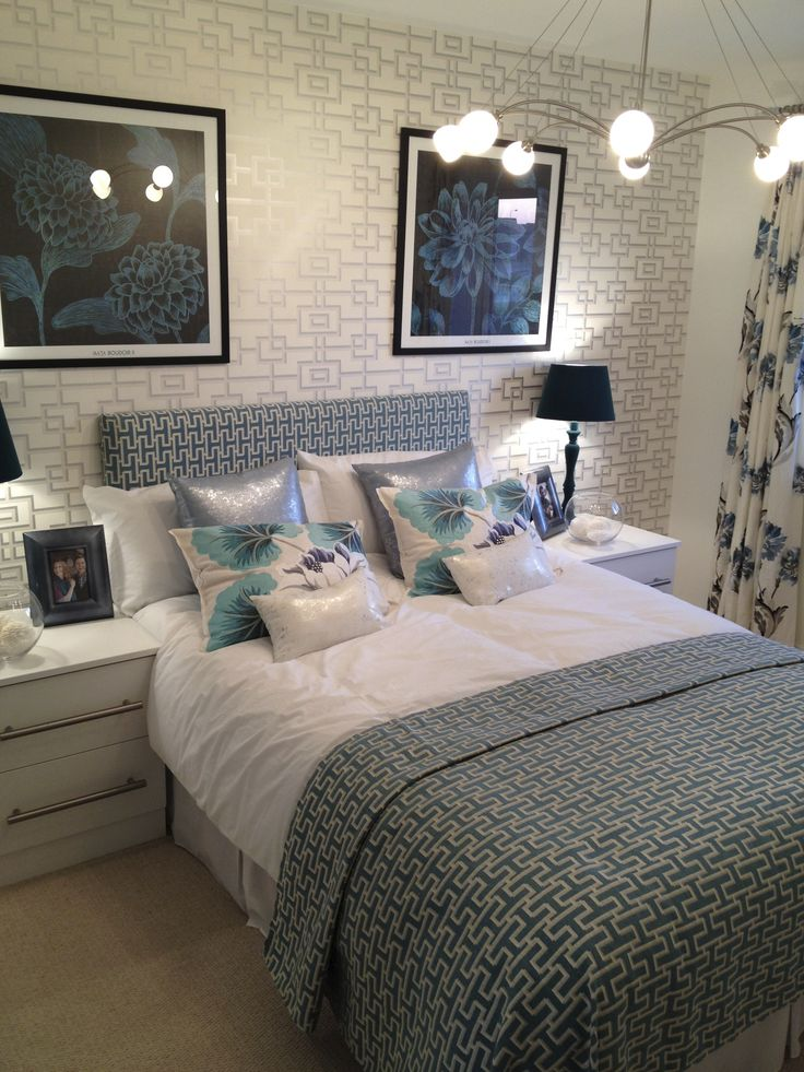 Another spare bedroom idea  white units with duck egg blue accessories   Find this Pin and more on Showhome Decor. 22 best Showhome Decor images on Pinterest   Lounge ideas  Home