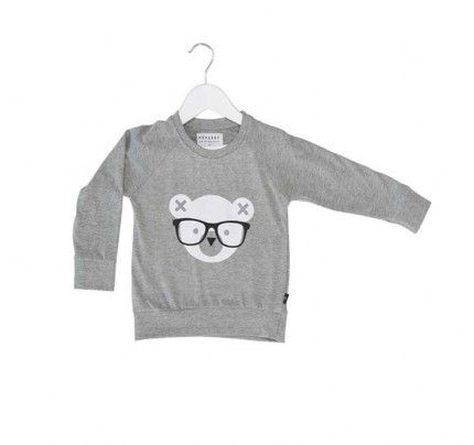 Nerd Bear Light Sweatshirt