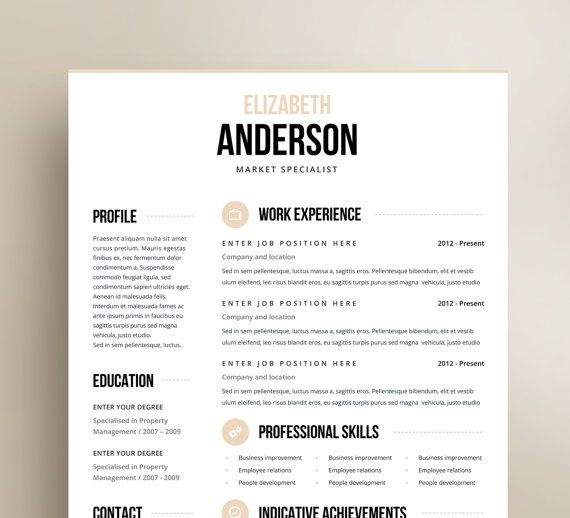 Best Cvs Images On   Cv Template Resume Templates