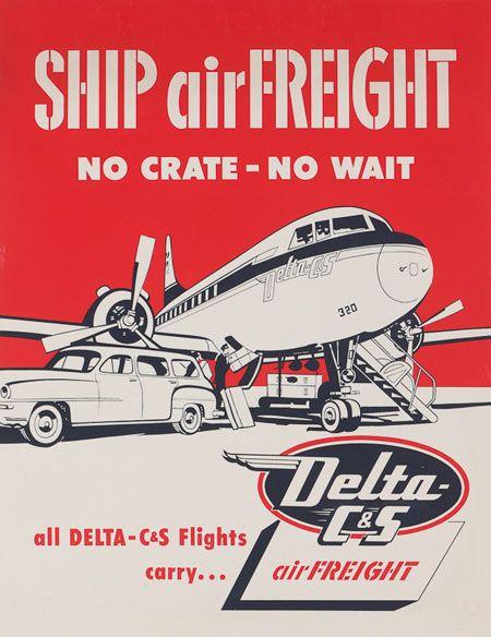 vintage advertising posters | Vintage posters of American airline companies - aviatstudios.com