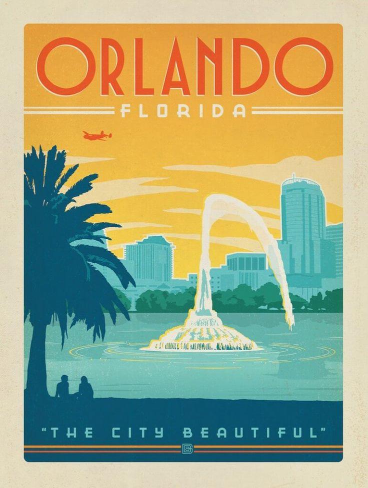 Orlando, Florida vintage travel poster