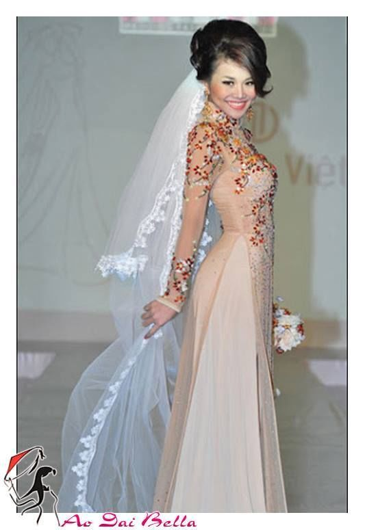 BURGUNDY Vietnamese traditional wedding dress ao dai cuoi many size beautiful #aodaibella