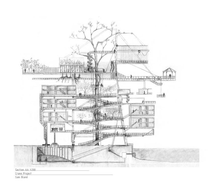 Cool Architecture Drawing best 25+ section drawing ideas on pinterest | architectural