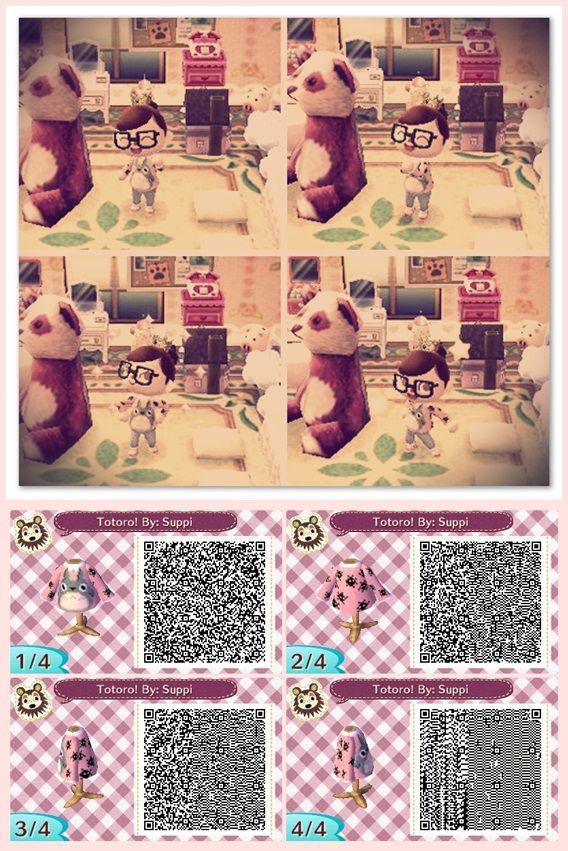 Totoro Sweater. qr codes. #acnl