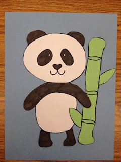 Panda Craft have the kinders draw a panda for zoo book