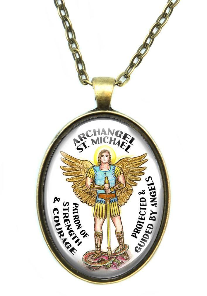 Archangel St Michael Patron Saint of Strength & Courage Huge Pendant