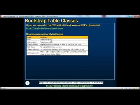 Bootstrap table classes Part 14
