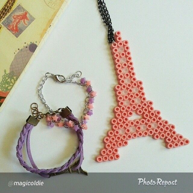 Eiffel tower hama beads by jasapromotetermurah
